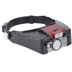 Lente tipo optivisor con 3 aumentos y 2 luces led